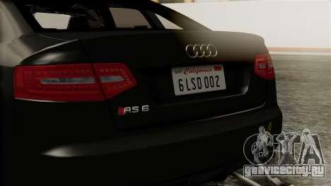 Audi RS6 Civil Drag Version для GTA San Andreas вид изнутри