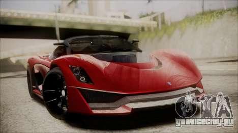 GTA 5 Grotti Turismo R IVF для GTA San Andreas