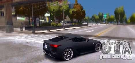 Lexus LF-A 2010 [EPM] для GTA 4 вид слева