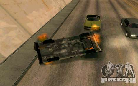 Burning car mod from GTA 4 для GTA San Andreas четвёртый скриншот