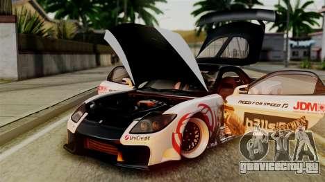 Mazda RX-7 Veilside Mugi Itasha для GTA San Andreas вид изнутри