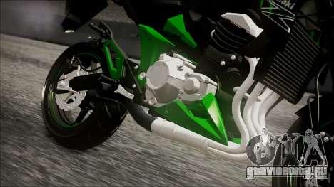 Kawasaki Z800 Monster Energy для GTA San Andreas вид справа