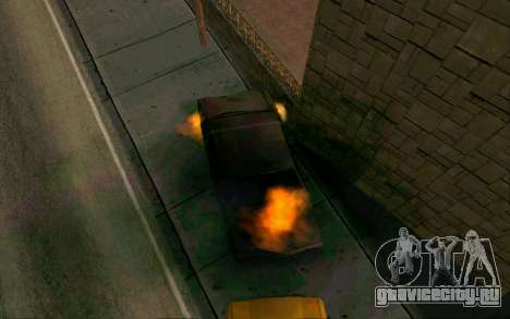 Burning car mod from GTA 4 для GTA San Andreas второй скриншот