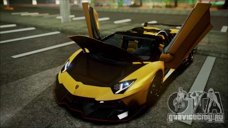 Lamborghini Veneno LP700-4 AVSM Roadster Version для GTA San Andreas вид изнутри