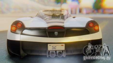 GTA 5 Pegassi Osiris IVF для GTA San Andreas вид сверху