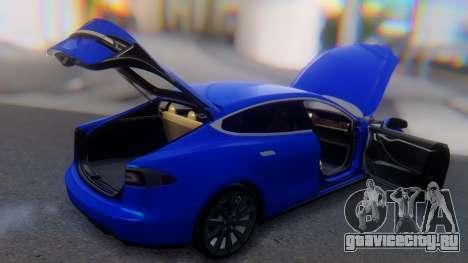 Tesla Model S для GTA San Andreas вид сверху