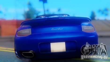 Porsche 911 2010 Cabrio для GTA San Andreas вид изнутри