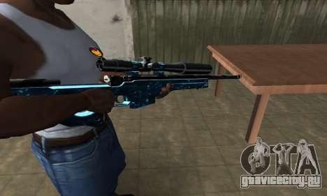 Sniper Blue Snow для GTA San Andreas