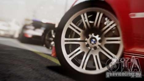 BMW M3 GTR Street Edition для GTA San Andreas вид сзади