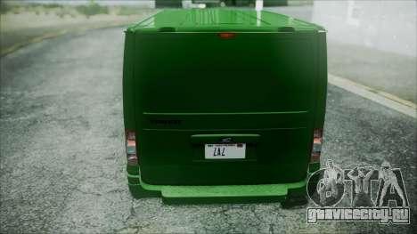 Ford Transit SSV 2011 для GTA San Andreas вид изнутри