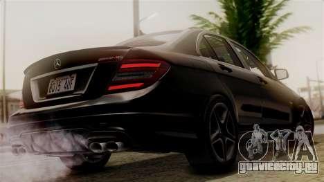 Mercedes-Benz C63 AMG 2015 Edition One для GTA San Andreas вид слева
