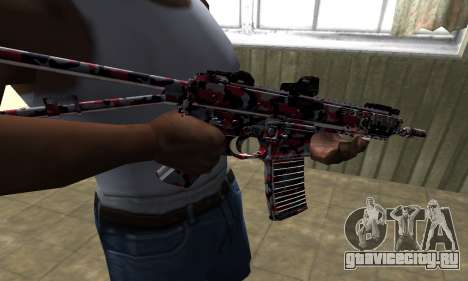M4 Красный Камуфляж для GTA San Andreas