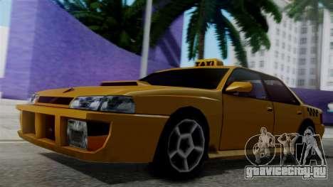 Sultan Taxi для GTA San Andreas вид сзади слева
