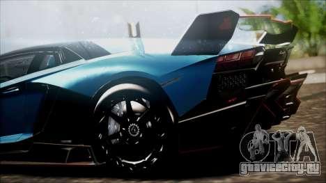 Lamborghini Veneno LP700-4 AVSM для GTA San Andreas вид сзади слева