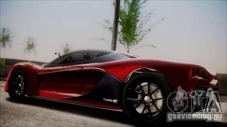 GTA 5 Grotti Turismo R IVF для GTA San Andreas вид сзади слева