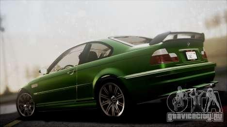 BMW M3 GTR Street Edition для GTA San Andreas вид сбоку
