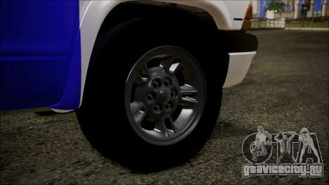 Dodge Dakota Iraqi Police для GTA San Andreas вид сзади слева