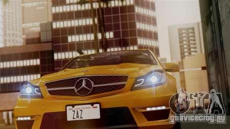 Mercedes-Benz C63 AMG 2015 Edition One для GTA San Andreas салон