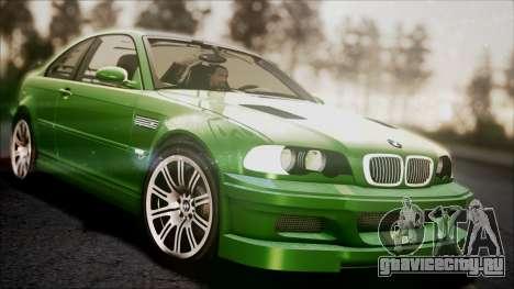 BMW M3 GTR Street Edition для GTA San Andreas вид снизу