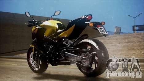 Honda CB650F Amarela для GTA San Andreas вид слева