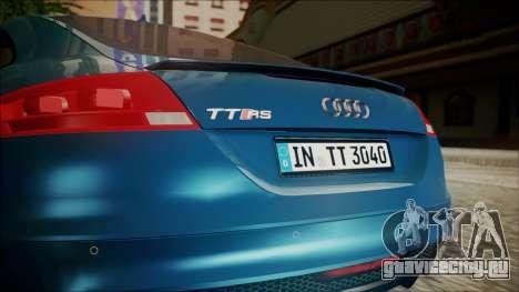 Audi TT RS 2011 v3 для GTA San Andreas вид сзади
