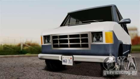El Passa Van для GTA San Andreas вид сзади слева