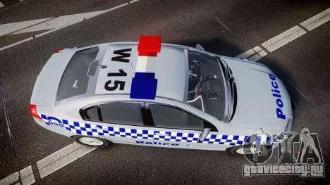 Holden Commodore Omega Victoria Police [ELS] для GTA 4 вид справа