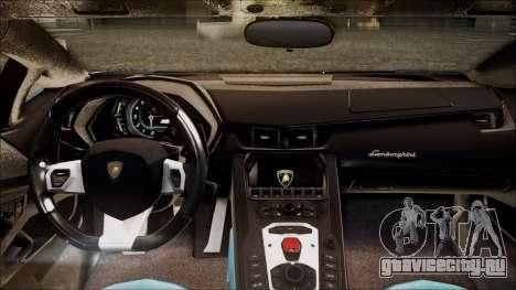 Lamborghini Veneno LP700-4 AVSM для GTA San Andreas вид сзади