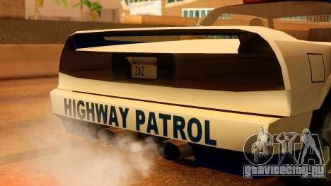 Police Infernus для GTA San Andreas вид сзади