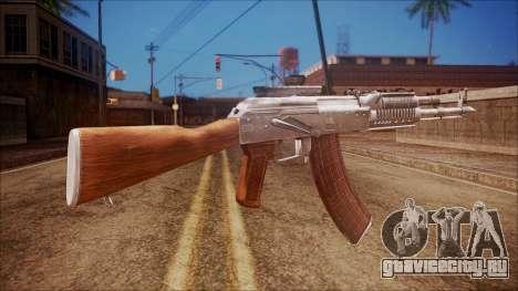 AK-47 v4 from Battlefield Hardline для GTA San Andreas второй скриншот