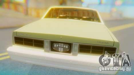 Chevrolet Caprice для GTA San Andreas вид сзади