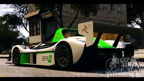 Radical SR8 RX для GTA 4 вид сзади слева