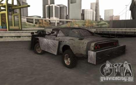 Dodge Charger Infernal Bulldozer для GTA San Andreas вид слева