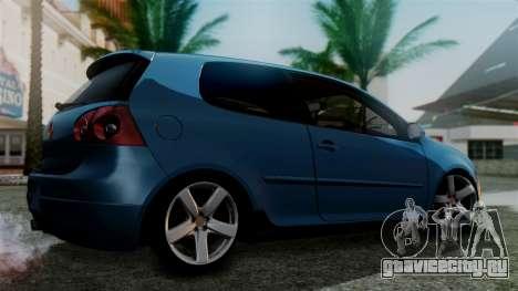 Volkswagen Golf Mk5 для GTA San Andreas вид слева