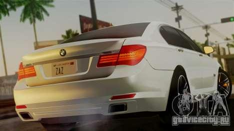 BMW 7 Series F02 2013 для GTA San Andreas вид слева
