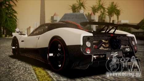 Pagani Zonda Cinque 2009 Autovista для GTA San Andreas вид слева