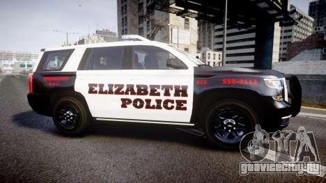 Chevrolet Tahoe 2015 Elizabeth Police [ELS] для GTA 4 вид слева