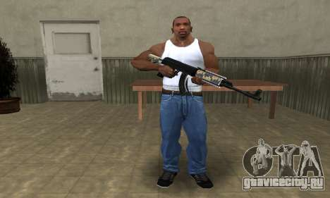 Cool Black AK-47 для GTA San Andreas третий скриншот