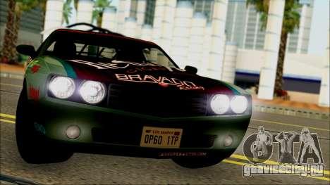 GTA 5 Bravado Gauntlet Redwood HQLM для GTA San Andreas вид сзади слева