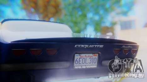 Invetero Coquette BlackFin v2 SA Plate для GTA San Andreas вид снизу