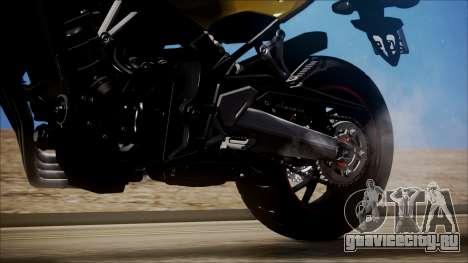 Honda CB650F Amarela для GTA San Andreas вид сзади