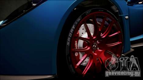 Hennessey Venom GT 2012 U.S.A American для GTA San Andreas вид снизу
