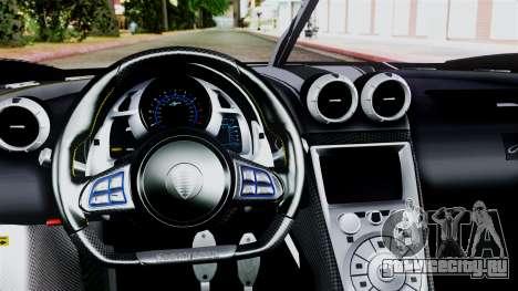 NFS Rivals Koenigsegg Agera R v2.0 для GTA San Andreas вид справа