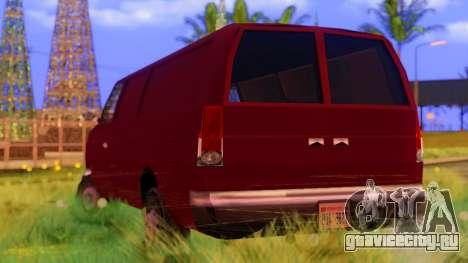 Ambush Van для GTA San Andreas вид сзади слева