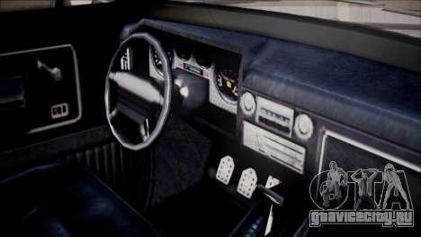 GTA 5 Vapid Slamvan Pickup для GTA San Andreas вид справа
