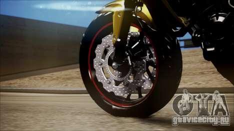Honda CB650F Amarela для GTA San Andreas вид справа