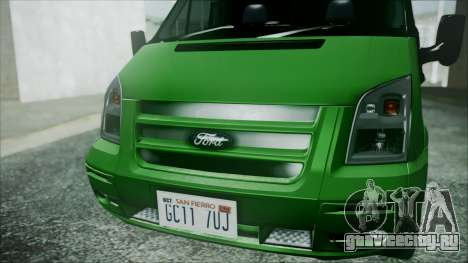 Ford Transit SSV 2011 для GTA San Andreas вид сзади