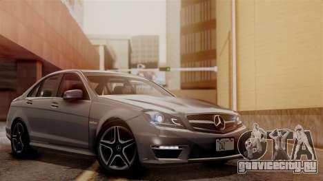 Mercedes-Benz C63 AMG 2015 Edition One для GTA San Andreas вид снизу