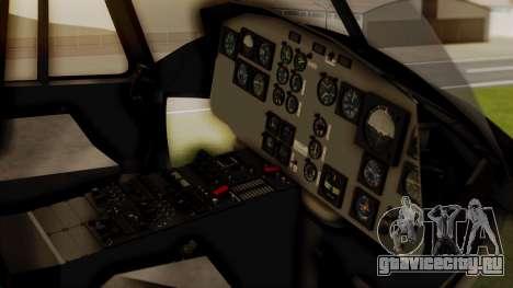 Bell UH-1 Paraguay для GTA San Andreas вид сзади