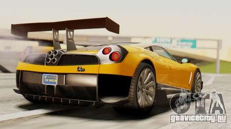 Pegassi Osyra Full Extras для GTA San Andreas вид слева